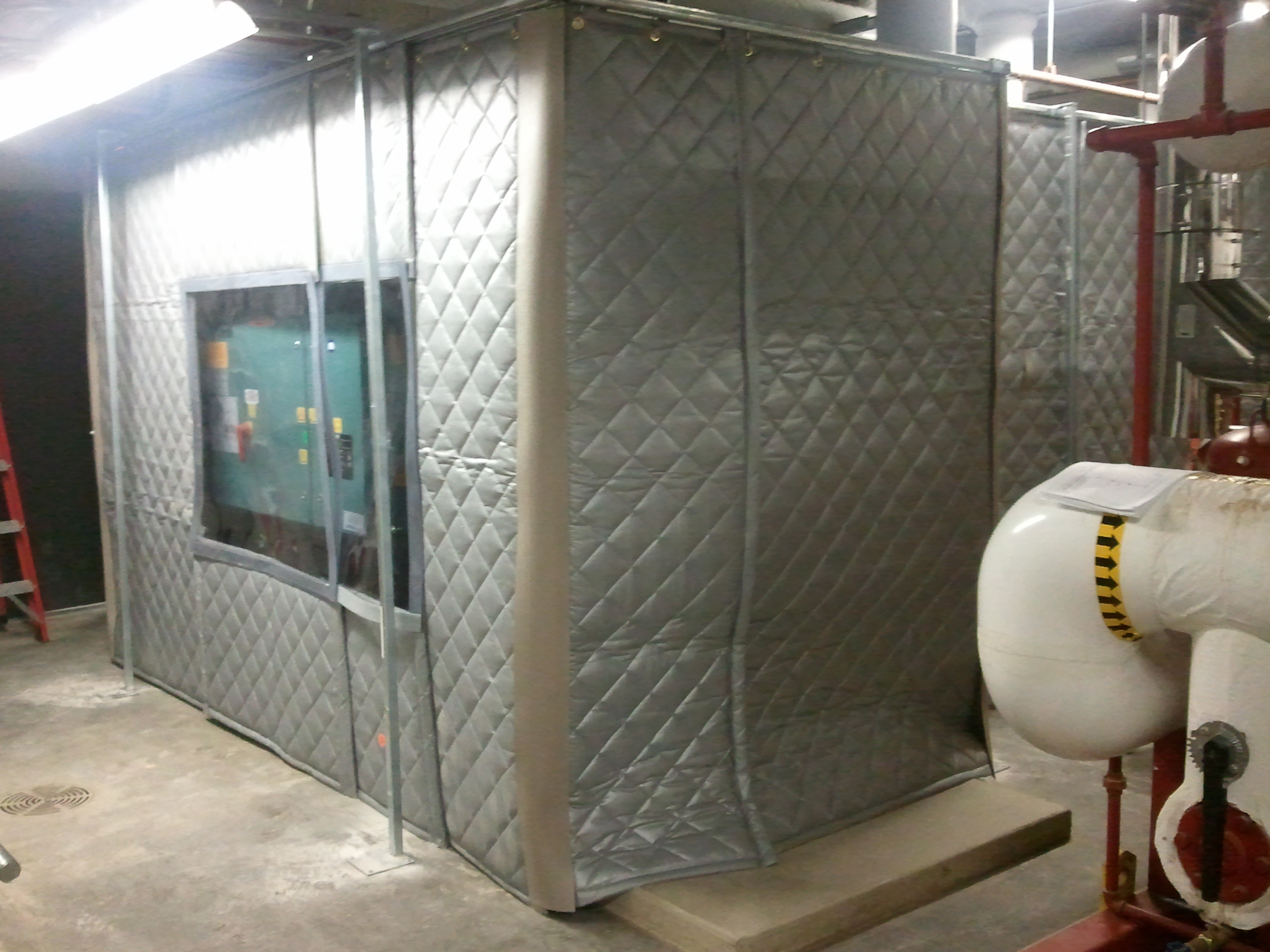 Curtain Noise Enclosure Around Chiller 2