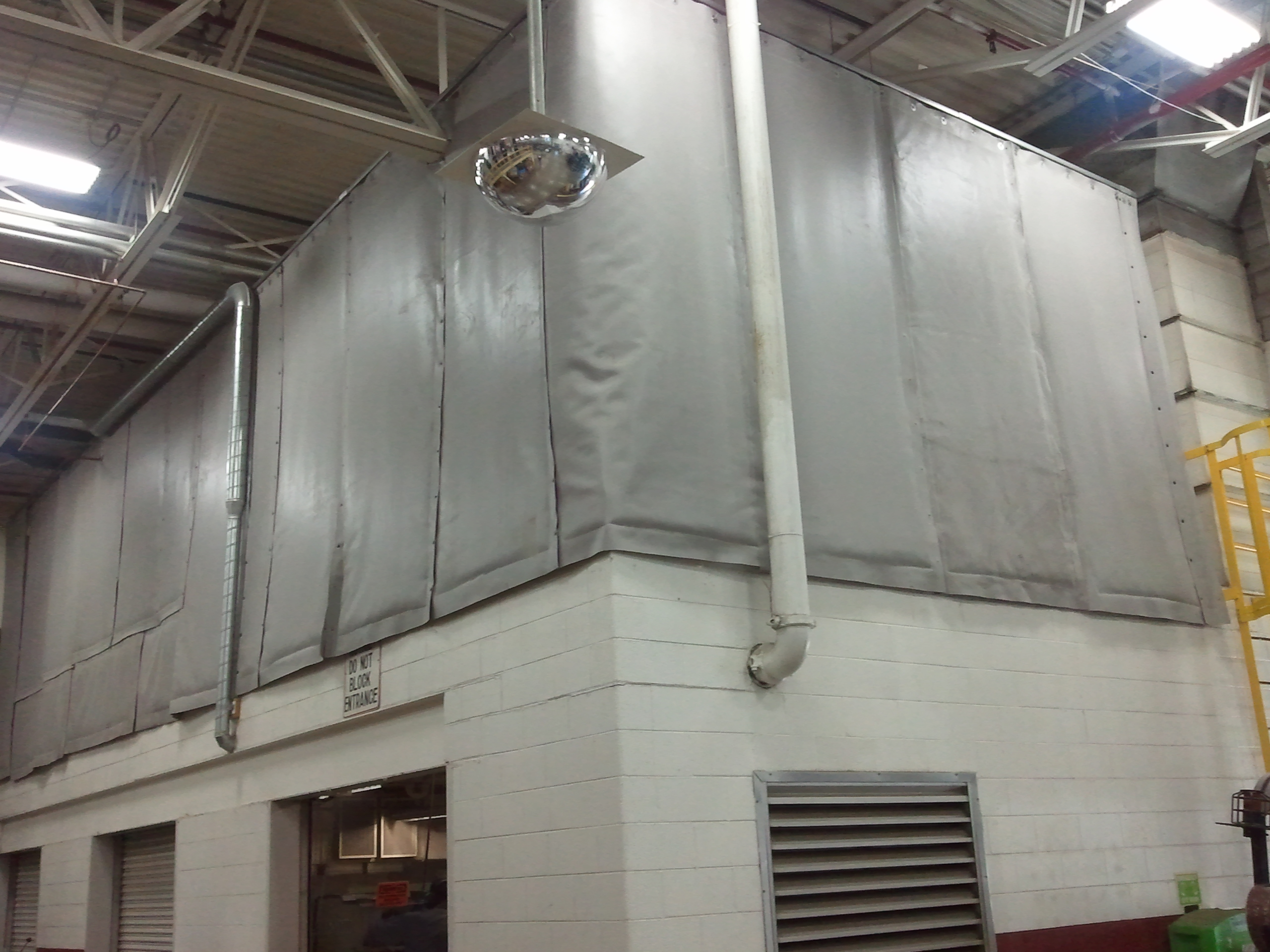 Curtain Enclosure On Mezzanine 1