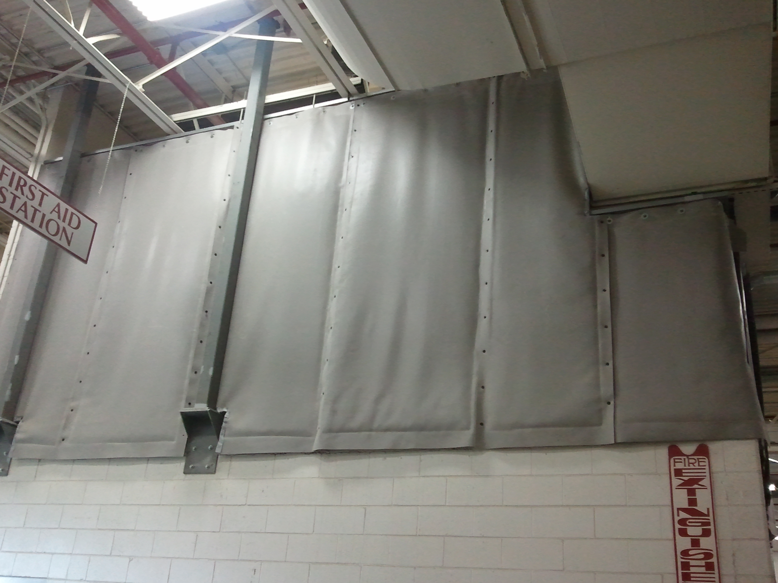 Curtain Enclosure On Mezzanine 2