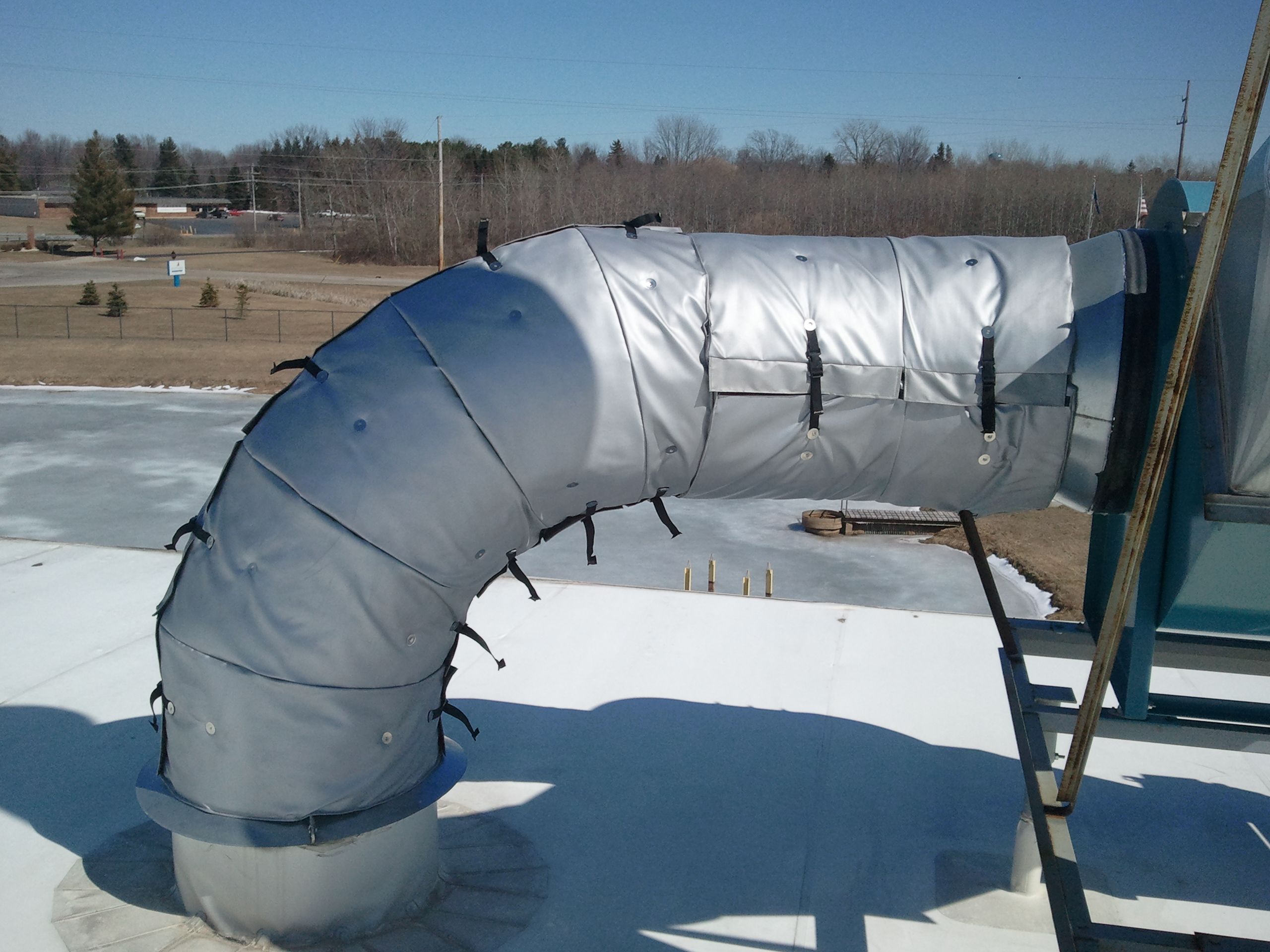 Removable Insulation Blankets On Blower 1